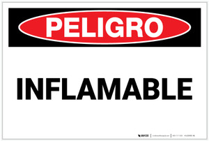 Danger: Flammable - Spanish - Label