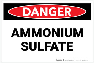 Danger: Ammonian Sulfate - Label