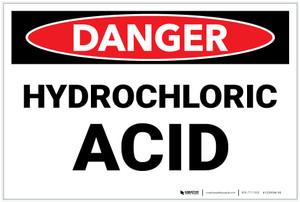Danger: Hydrochloric Acid Landscape - Label