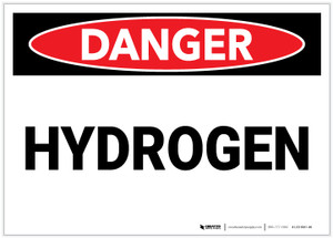 Danger: Hydrogen - Label