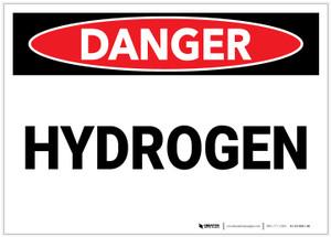 Danger: Hydrogen - Label