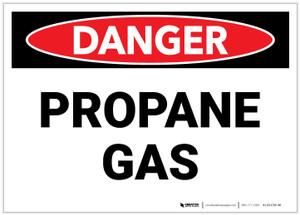 Danger: Propane Gas Landscape - Label