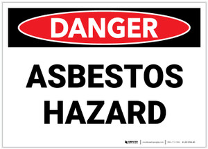 Danger: Public Health Asbestos Hazard - Label