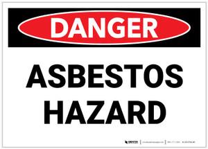 Danger: Public Health Asbestos Hazard - Label