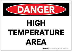 Danger: High Temperature Area - Label