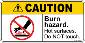 Caution - Burn Hazard