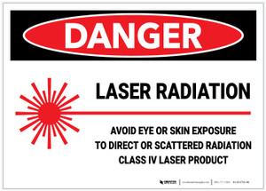 Danger: Laser Radiation Avoid Eye or Skin Exposure To Direct Laser - Label