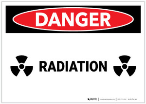 Danger: Radiation Landscape - Label
