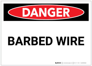 Danger: Barbed Wire - Label