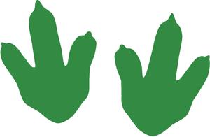 Smart Stripe Dinosaur Footprints