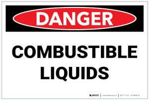 Danger: Combustible Liquids - Label