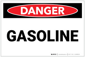 Danger: Gasoline - Label