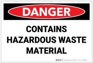 Danger: Hazardous Waste Material - Label