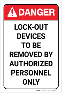 Danger: Lock Out Devices - Label