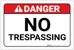 Danger: No Trespassing ANSI - Label