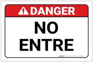 Danger: Spanish Do Not Enter - Label
