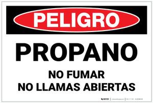 Danger: Spanish Propane No Smoking Open Flame - Label