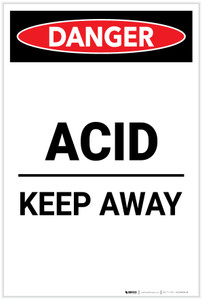 Danger: Acid Keep Away Portrait - Label