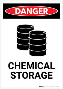 Danger: Chemical Storage with Graphic Portrait - Label