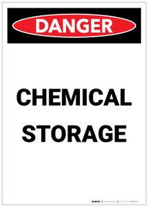Danger: Chemical Storage Portrait - Label