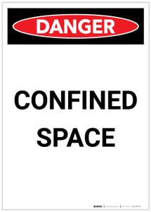 Danger: Confined Space Portrait - Label