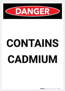 Danger: Contains Cadmium Portrait - Label