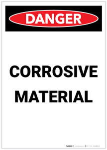 Danger: Corrosive Material Portrait - Label