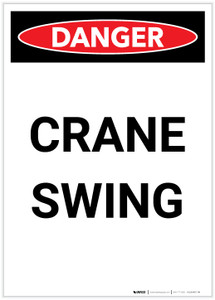 Danger: Crane Swing Portrait - Label