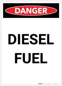 Danger: Diesel Fuel Portrait Portrait - Label