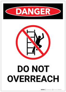 Danger: Do Not Overreach with Icon Portrait - Label