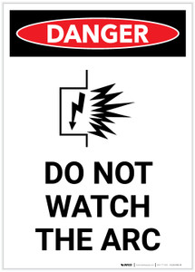 Danger: Do Not Watch the Arc with Icon Portrait - Label