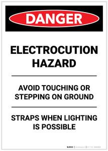 Danger: Electrocution Hazard Avoid Touching Portrait - Label