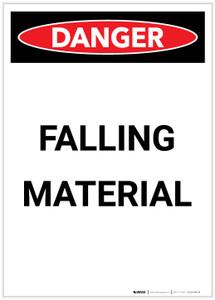 Danger: Falling Material Portrait - Label