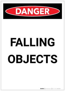 Danger: Falling Objects Portrait - Label