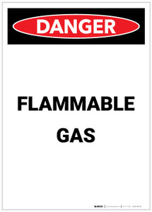 Danger: Flammable Gas Portrait - Label