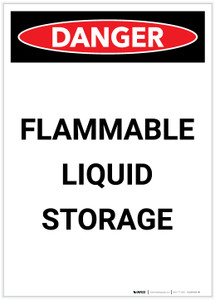 Danger: Flammable Liquid Storage Portrait - Label