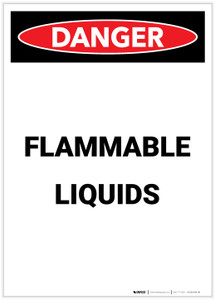 Danger: Flammable Liquids Portrait - Label