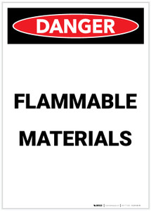 Danger: Flammable Materials Portrait - Label