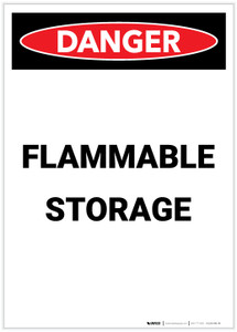 Danger: Flammable Storage Portrait - Label