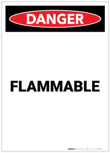 Danger: Flammable Portrait - Label