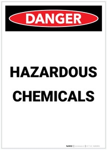 Danger: Hazardous Chemicals Portrait - Label