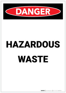 Danger: Hazardous Waste Portrait - Label