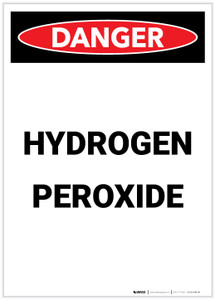 Danger: Hydrogen Peroxide Portrait - Label