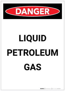 Danger: Liquid Petroleum Gas Portrait - Label