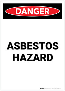 Danger: Asbestos Hazard Portrait - Label