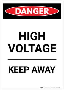 Danger: High Voltage Keep Away Portrait - Label