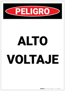Danger: High Voltage Spanish Portrait - Label