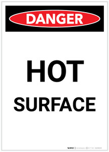 Danger: Hot Surface Portrait - Label