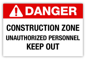 Danger- Construction Zone Label