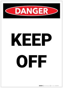 Danger: Keep Off Portrait - Label